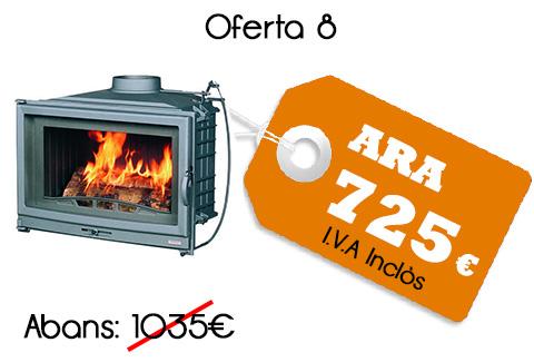 Model D80 Pes 112 Kg. Amplada 798mm Profunditat 474mm Alçada 638mm Potencia nominal: 14Kw